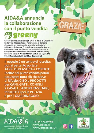 Locandina Aidaea Greeny x social.indd
